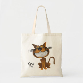 Cartoon Cool Cat Tote Bag
