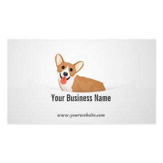 Cartoon Corgi Pet Business Card