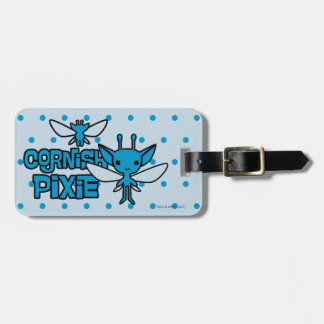 Cartoon Cornish Pixie Character Art Luggage Tag