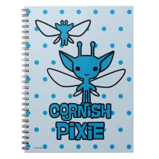 Cartoon Cornish Pixie Character Art Notebook