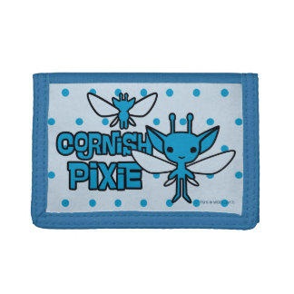 Cartoon Cornish Pixie Character Art Trifold Wallets