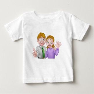Cartoon Couple Baby T-Shirt