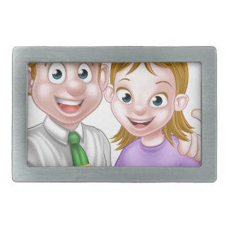 Cartoon Couple Rectangular Belt Buckles