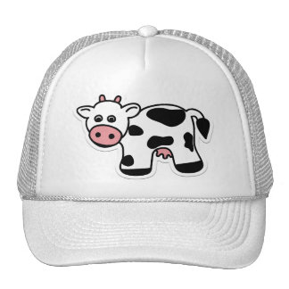 Cartoon Cow Cap Trucker Hat