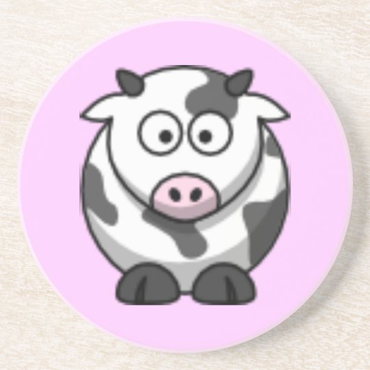 cartoon cow coaster