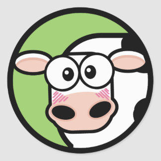 Cartoon Cow Customizable Sticker