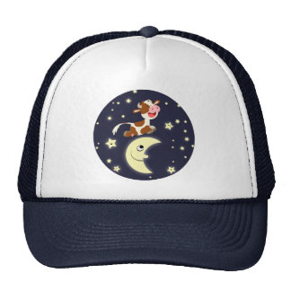 Cartoon Cow Jumped Over The Moon Hat