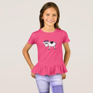 Cartoon Cow with Purple Bow T-Shirt
