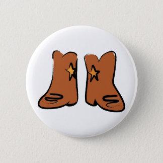 Cartoon Cowboy Boots 2 Inch Round Button
