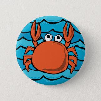 Cartoon Crab 2 Inch Round Button