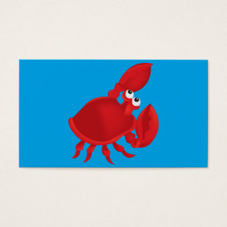 Cartoon crab business card