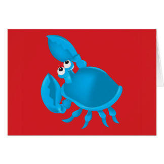 Cartoon crab card