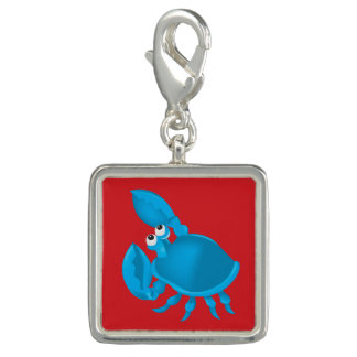 Cartoon crab charms