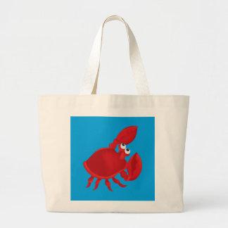 Cartoon crab large tote bag