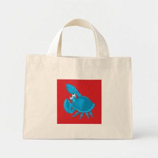 Cartoon crab mini tote bag