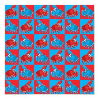Cartoon crab mosaic card