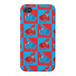 Cartoon crab mosaic covers for iPhone 4