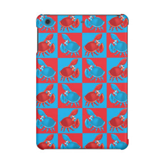 Cartoon crab mosaic iPad mini cover