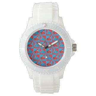Cartoon crab mosaic watch