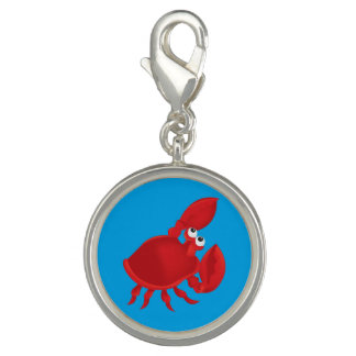 Cartoon crab photo charm