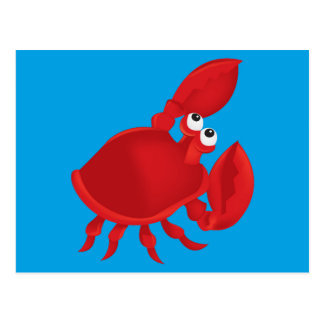 Cartoon crab postcard