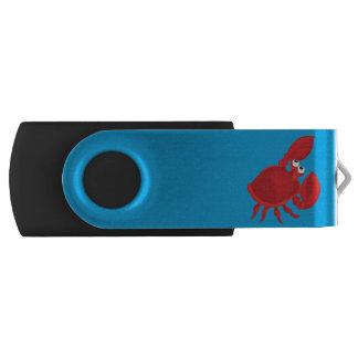 Cartoon crab swivel USB 2.0 flash drive
