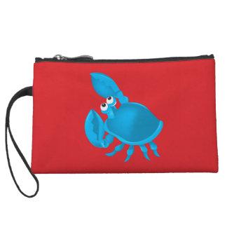 Cartoon crab wristlet clutches