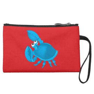 Cartoon crab wristlet purse