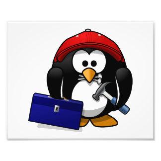 Cartoon Crafty Penguin Art Photo