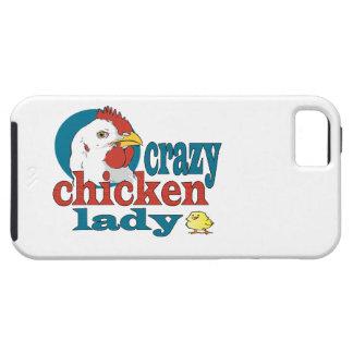 Cartoon Crazy Chicken Lady iPhone 5 Cases