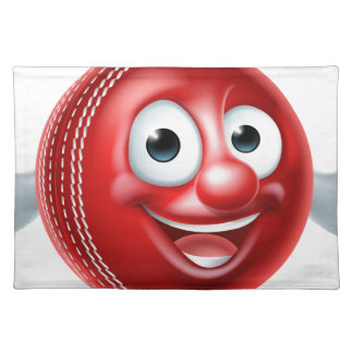 Cartoon Cricket Ball Character Placemat