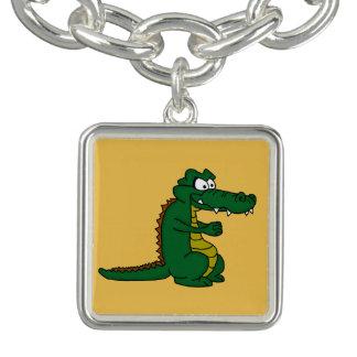 Cartoon croc charm bracelet