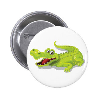 Cartoon Crocodile 2 Inch Round Button