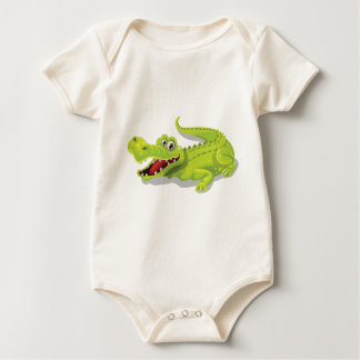 Cartoon Crocodile Baby Bodysuit