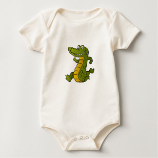 Cartoon crocodile. baby bodysuit