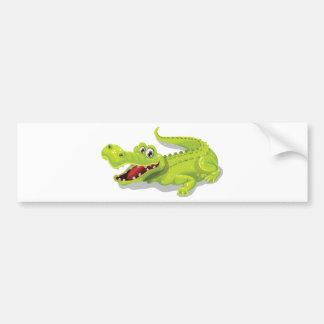 Cartoon Crocodile Bumper Sticker