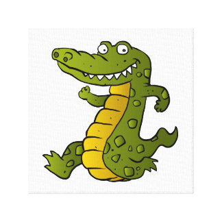 Cartoon crocodile. canvas print
