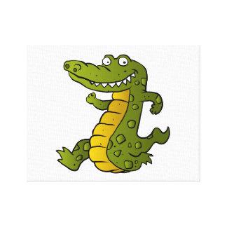 Cartoon crocodile. canvas print