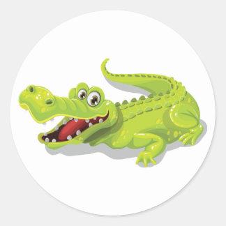 Cartoon Crocodile Classic Round Sticker