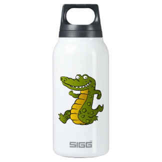 Cartoon crocodile. insulated water bottle