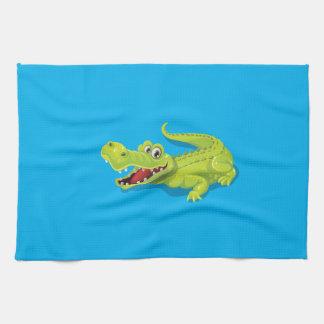 Cartoon Crocodile Kitchen Towels