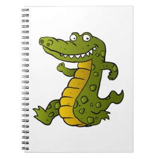Cartoon crocodile. note book