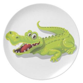 Cartoon Crocodile Plate