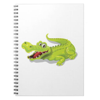 Cartoon Crocodile Spiral Note Books