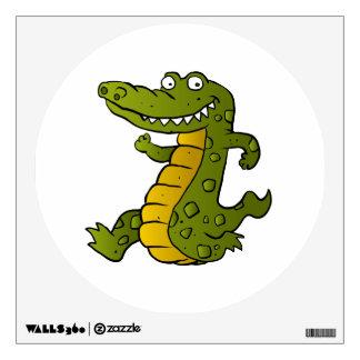 Cartoon crocodile. wall decal