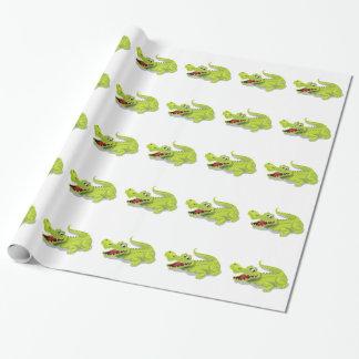 Cartoon Crocodile Wrapping Paper