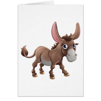 Cartoon Cute Donkey Farm Animal Card