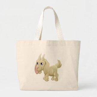 Cartoon Cute Goat Farm Animal Large Tote Bag