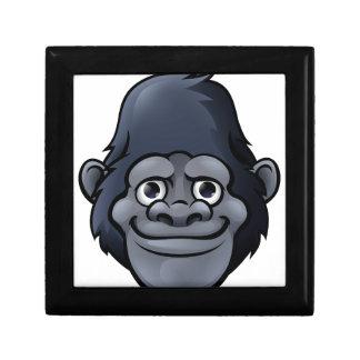 Cartoon Cute Gorilla Face Jewelry Boxes