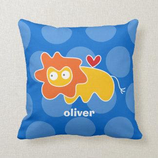 Cartoon Cute Lion Love Whimsical Kids Cushion Throw Pillow